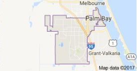 Map Of Palm Bay Florida.Palm Bay Fl Map